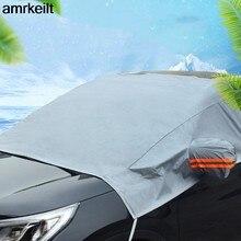 Universal pára-brisas da janela dianteira do carro cobre pára-sol capa neve uv gelo escudo para brisa inverno verão