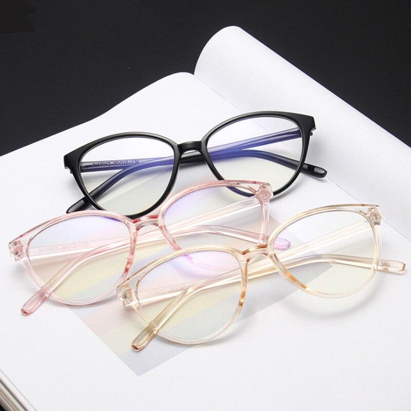 VWKTUUN Anti Blue Light Women Cat Eye Eyeglasses Frame Men Optical Glasses Frame Retro Computer Glasses Transparent Glasses