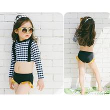 Купальные костюмы для девочек 2 шт детское бикини купальный