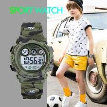 Boys Girls Waterproof Watch Outdoor Sports Camouflage Electr