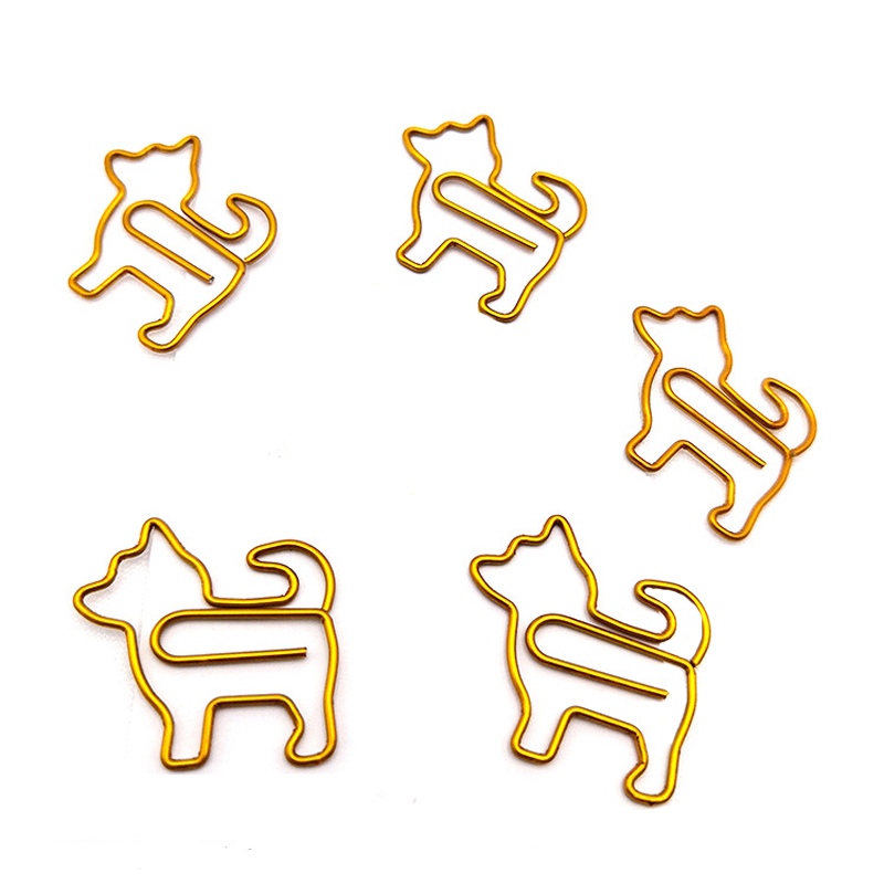 A Pack Of 25 Cartoon Puppies Styling Paper Clips Cute Paper Clips Paper Storage Documents Finishing Student Job Binding
