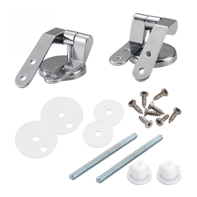 Bathroom Zinc Alloy Toilet Lid Hinge Toilet Seat Cover Hinge Fitting Mounting Fitting Repair Replacement Part Hardware For Hotel