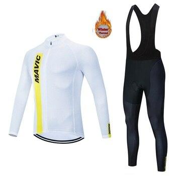 2020  MAVIC riding suit autumn and winter long-sleeved warm wool riding suit men outdoor mountain bike bike suit pants suit
