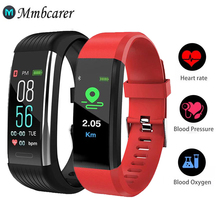 R1 Sport Bluetooth inteligentna opaska krokomierz z pomiarem akcji serca Monitor pomiar ciśnienia krwi wodoodporna inteligentna bransoletka nadgarstek tanie tanio Mmbcarer CN (pochodzenie) Android Dla systemu iOS Na nadgarstek Zgodna ze wszystkimi 128 MB Rejestrator aktywności fizycznej