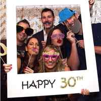 Happy Paper Photo Booth Props Photo Frame Anniversary 30 years Birthday Decorations Party Gift 1/16/18/30/35/40/50/60th
