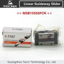 Taiwan PMI linear guideway slider carriage block MSB15S MSB15SSSFC slider for CO2 laser machine
