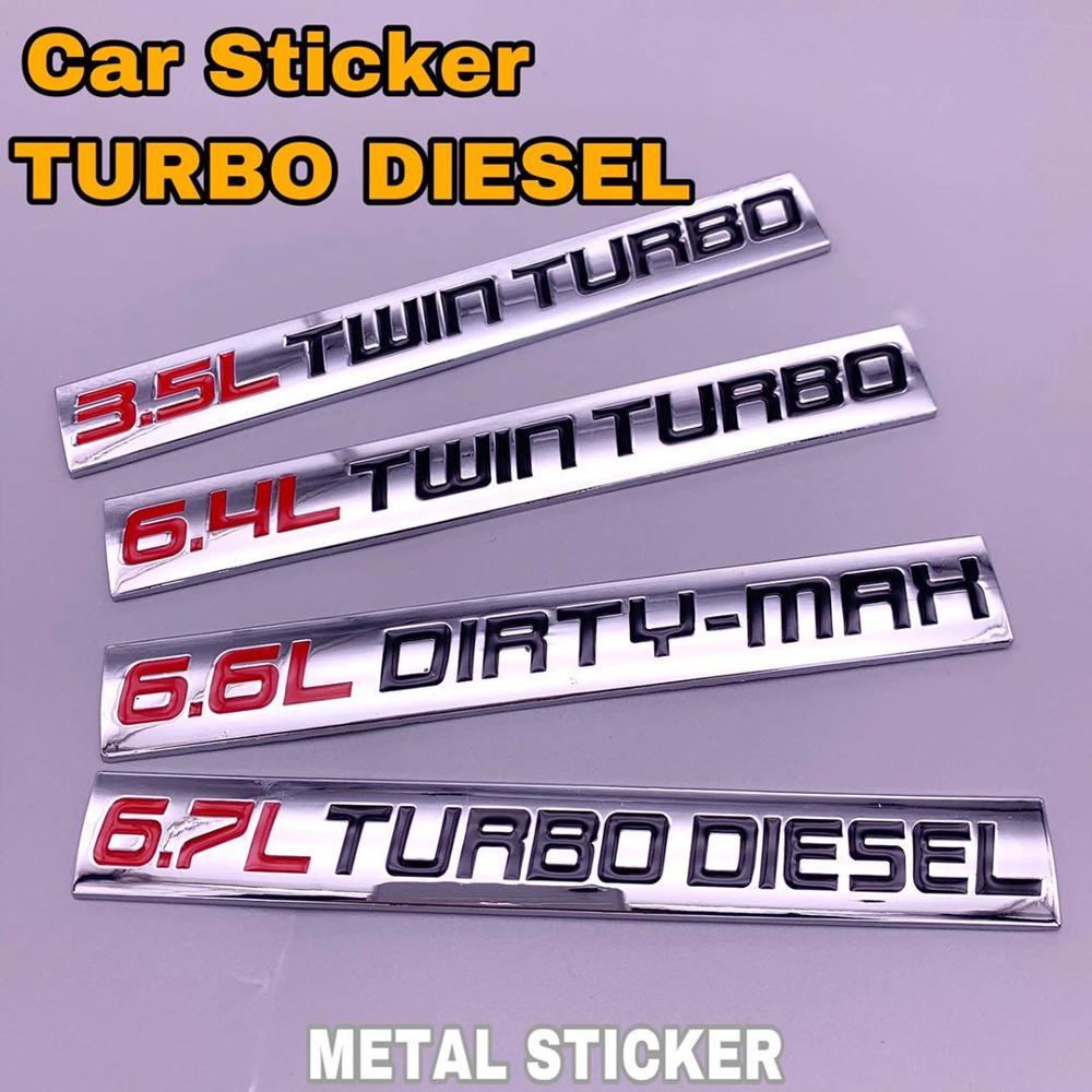 3.5L 6.4L Твин дизель турбо 6.7L 6.6L грязной Max авто Fender сбоку наклейка багажник капот наклейка эмблемы с логотипом для Ford для BMW
