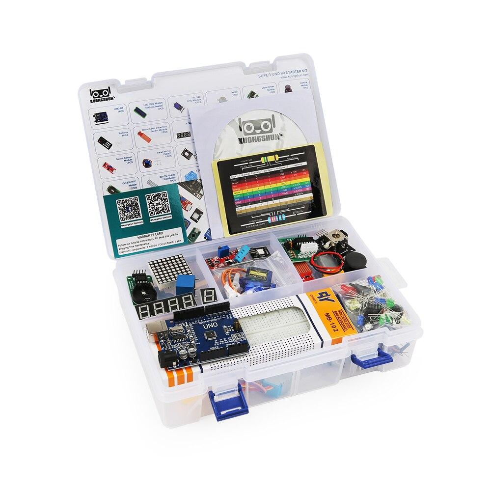 2019 o mais rentável projeto diy starter kit eletrônico diy com tutorial compatível com arduino ide uno r3 ch340
