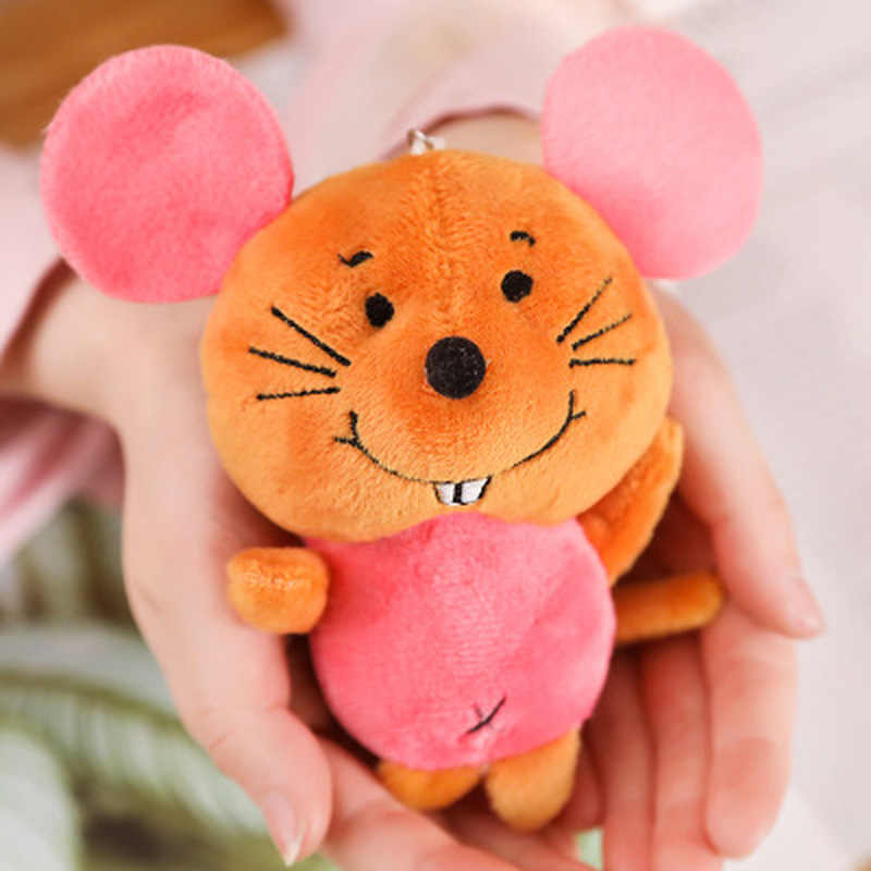 1PCS Cute Plush Mouse Toys Small Pendant Children Gift Creative Kawaii Mice Soft Stuffed Toy For Kids Hot Sale 11CM