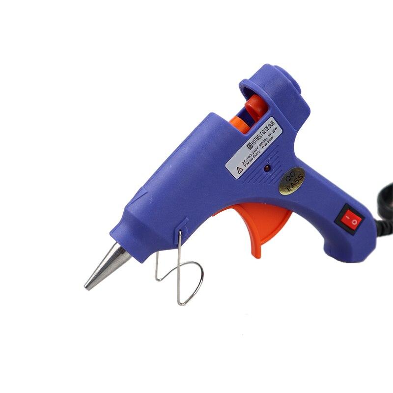 High Temp Heater Melt A Hot Glue Gun 20W  Repair Tool Heat Gun Mini Gun EU Use 7mm Glue Sticks Optional Base