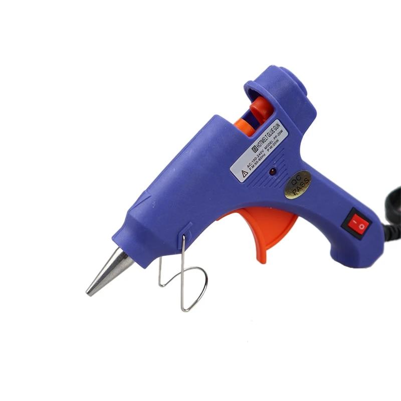 Hot Glue Gun 20W High Temp Repair Tool Heat Mini Gun EU Use 7mm Glue Sticks