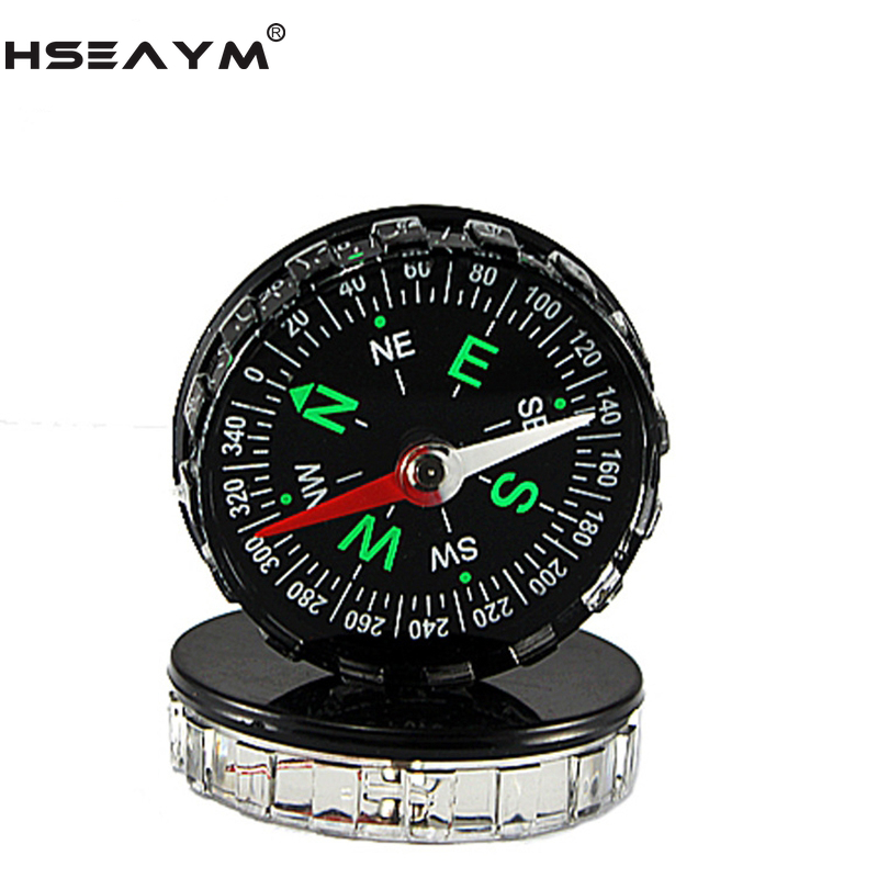 HSEAYM  Acrylic Handheld Compass Hunting Camping  Travel Hiking Car Pointing Guide Compass  DC45A