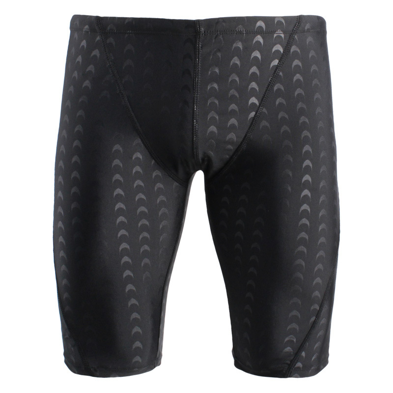 New Style Special Offer Shark Skin Type Men Long Swimming Trunks Hot Springs Comfortable Large Size With Drawstring