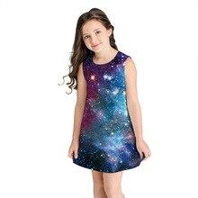 цена на 2020 Printed Girl's Dress Sleeveless A-line Dress Fashion Loose Children's Princess Baby Girl Clothes