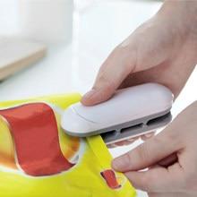 Portátil mini máquina de selagem da cozinha armazenamento e organização do agregado familiar selagem de alimentos aferidor do calor para a conveniência da cozinha