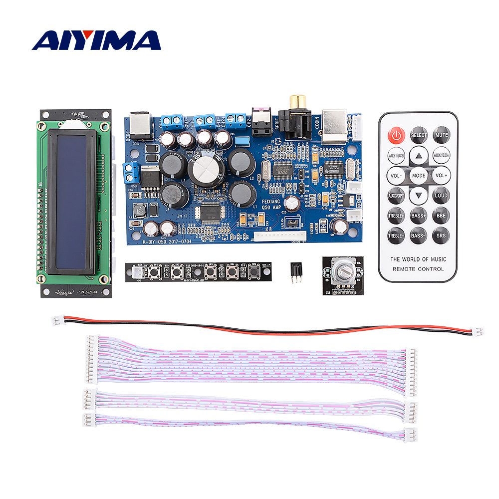 AIYIMA 2.1 2.0 STA350 Power Digital Amplifier DIY Home Sound Speaker Amplifier Coaxial Fiber USB Input PCM2704 Audio Amp Decoder