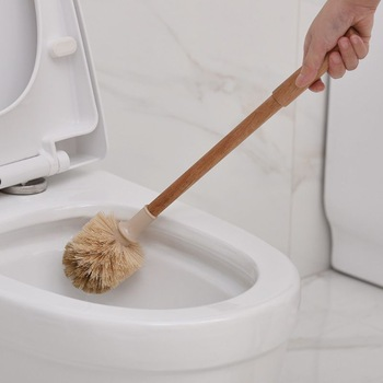 Household Wooden Long Handle Toilet Brush Home Hotel Kitchen Bathroom Multifunctional Detachable Closetool Cleaning Tool 1