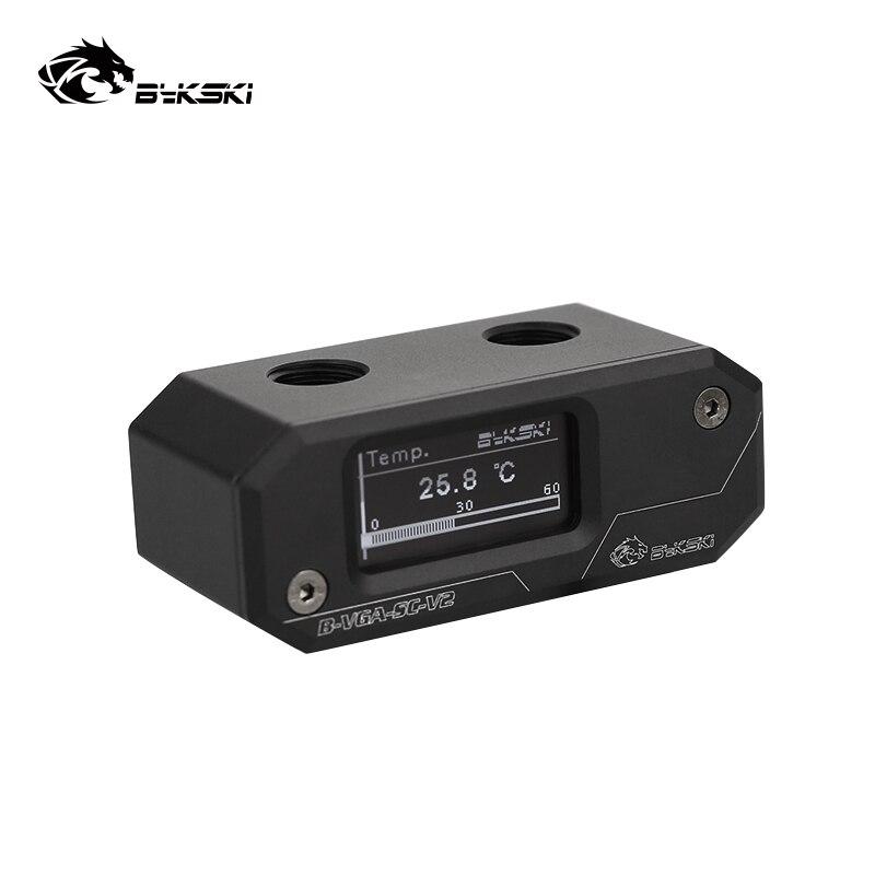 Bykski black Real time temperature display of split water cooling thermometer OLED LCD screen display B-VGA-SC-V2
