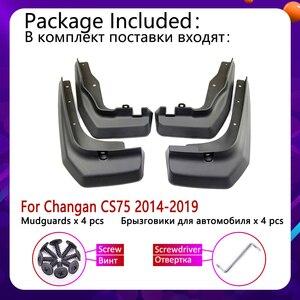 Image 2 - Брызговики для передних и задних крыльев Changan CS75 2014 ~ 2019, брызговики, аксессуары для брызговиков 2015 2016 2017 2018