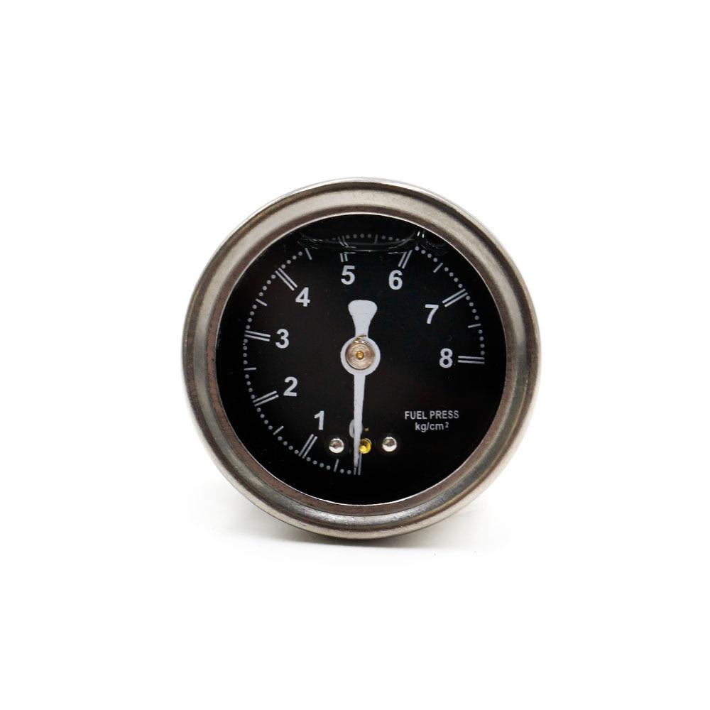 Liquid Filled Oil Fuel Pressure Press Gauge Regulator 1/8 Npt Black 0-8 Kg/cm Fuel Pressure