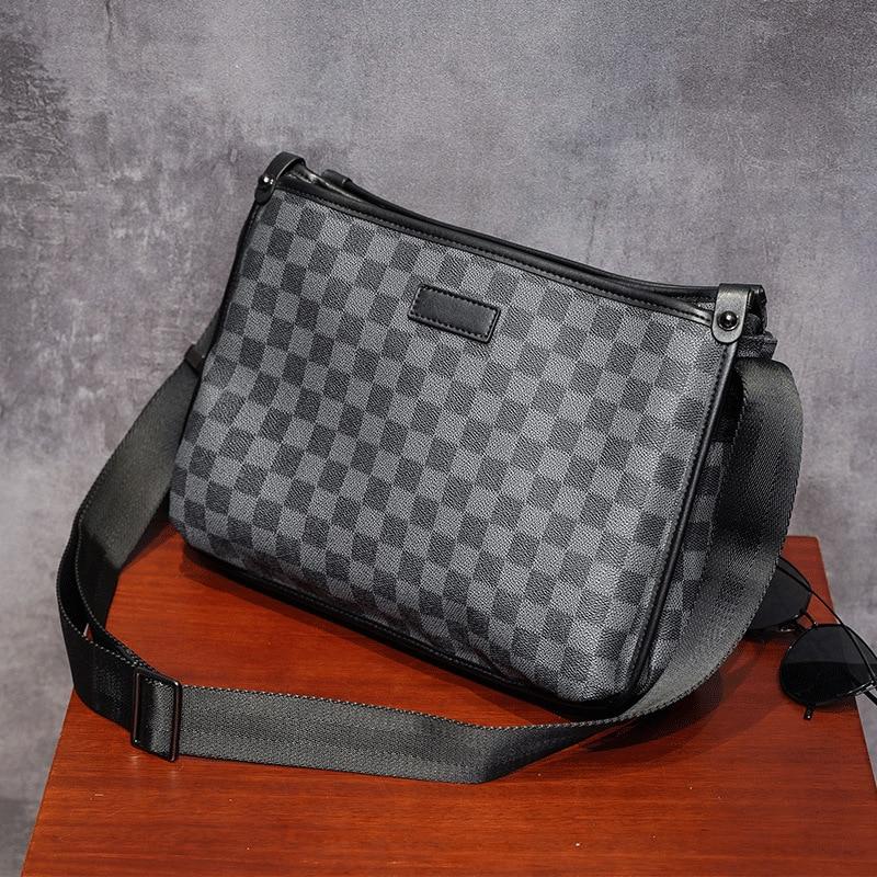 Men Business Briefcase Vintage Leather Cross Shoulder Bags Laptop Messenger Bag Big Capacity Tote Office Handbag Men Briefcase