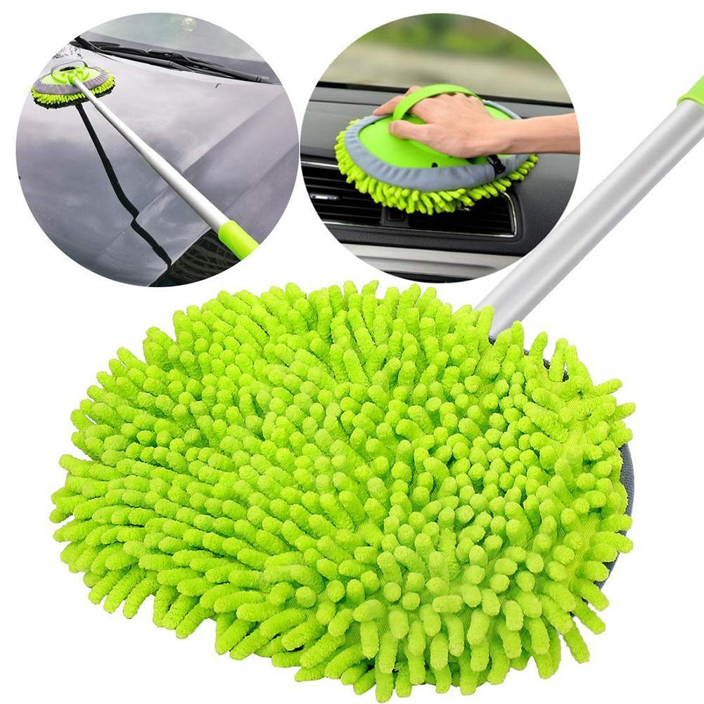 Car Wash Cleaning Brush Microfiber Telescoping Car Wash Body Duster Brush Dirt Dust Mop Cleaning Tool Auto Care Detailing
