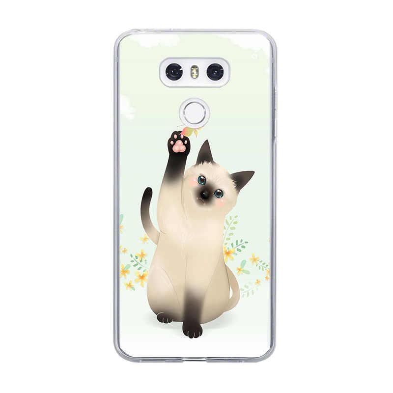 Ciciber زهرة القط ل LG G6 G7 G5 G4 V20 V30 V35 V40 THINQ لينة الهاتف حقيبة لجهاز LG K8 K7 K10 k4 2017 2018 K9 K11 زائد كابا فوندا