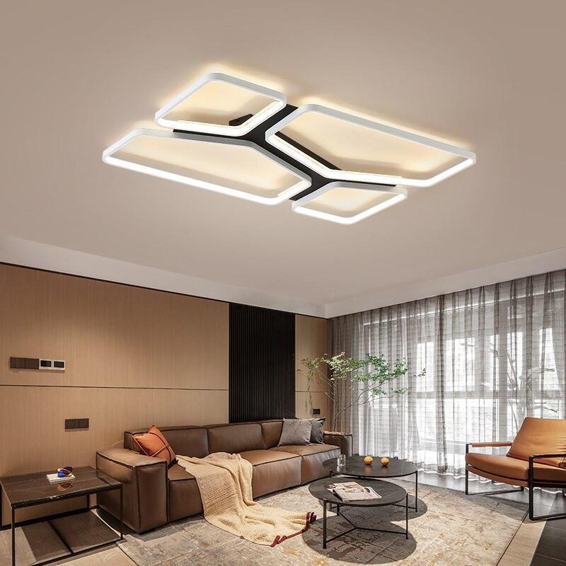 luminaria de teto retangular quadrado led luz 04