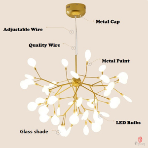 Image 3 - Modern Pendant Lamp LED Firefly Branch Tree Decorative Pendant Lighting Fixture Ceiling Lamp Hanging Light G4 Bulbs Included