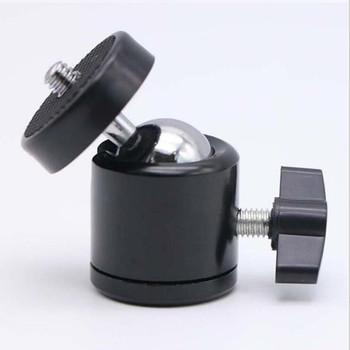 Mini głowica kulowa statywu 1 4 #8222 śruba do statywu 3 8 #8221 śruba do uchwyt lampy błyskowej akcesoria do lustrzanek cyfrowych 360 uchwyt obrotowy uchwyt tanie i dobre opinie YongNuo Aluminium