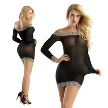 Transparent Leopard Tights Dress Sexy Lingerie Fabric Mesh Female Bodysuit Erotic Underwear Women Bodycon Skirt Shaping Leotard