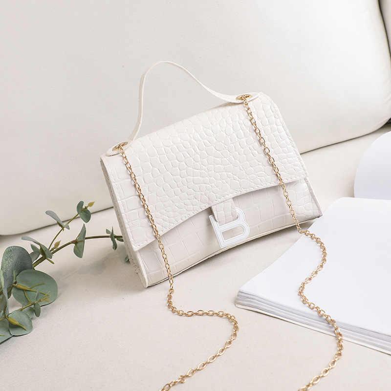Kette Tasche Weibliche B Brief 2020 Neue Koreanische Stil Mode Kleine Schulter Tasche Klassische Tasche Alle-spiel Mini Messenger tasche