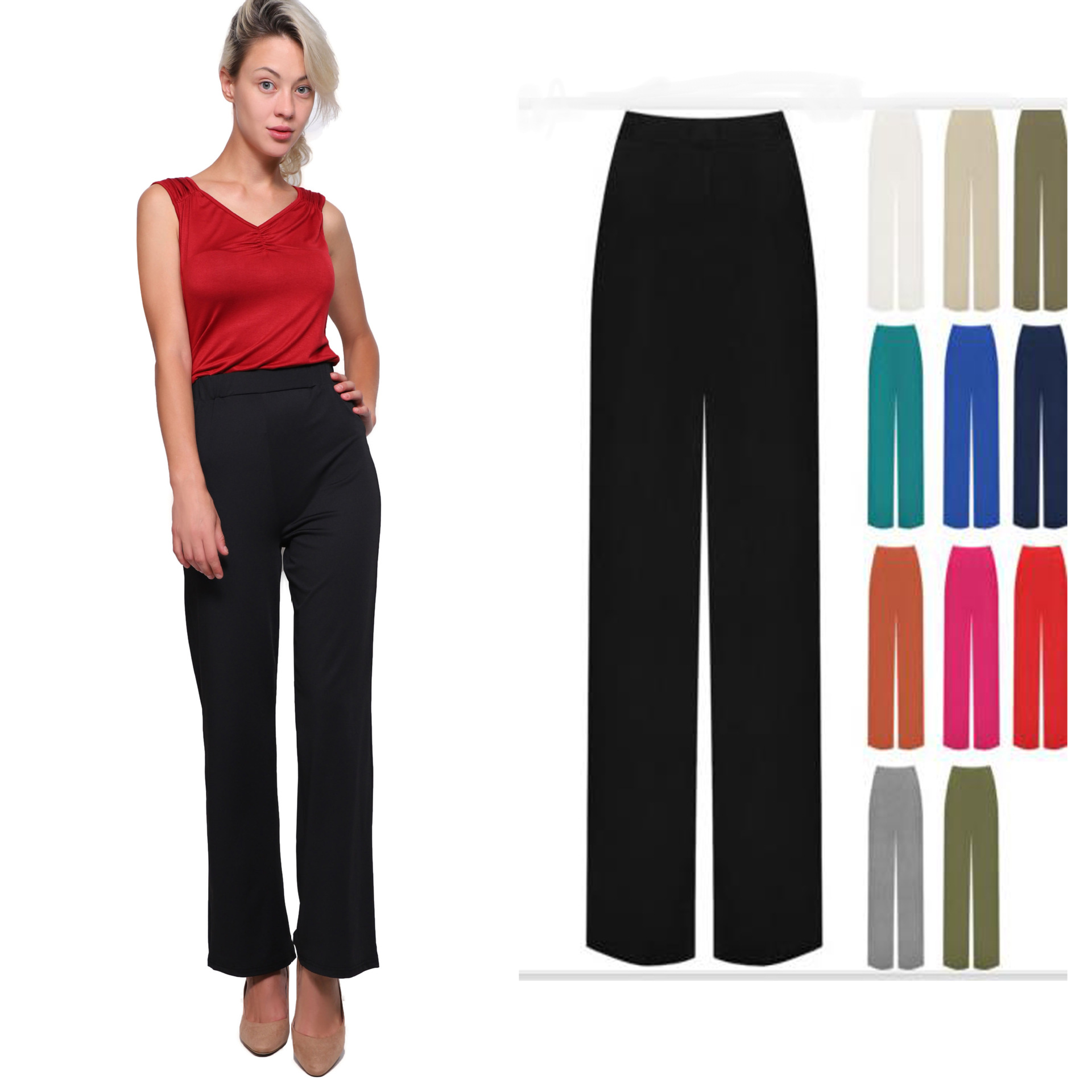 Madam Clothing  OLWPIRNCESS 2020 Nian Summer New Solid Color Men's Casual Pants Straight Trousers Long