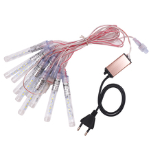 10cm Meteor Shower Rain Light LED 12V 10 Tube String for Holiday Christmas Wedding Party Decoration Outdoor Waterproof IP68
