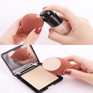 Image 2 - 1 stücke Make Up Schwamm Professionelle Kosmetische Puff Flüssige Foundation Concealer Creme Gesicht Bilden Weichen Schwamm Pulver Puff