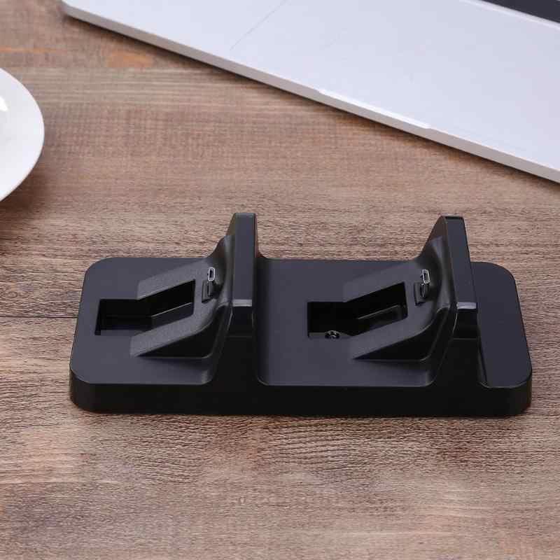 Çift USB şarj dok istasyonu standı PS4 PlayStation 4 oyun denetleyicisi kolu şarj Cradle braketi PS 4 yüksek kalite