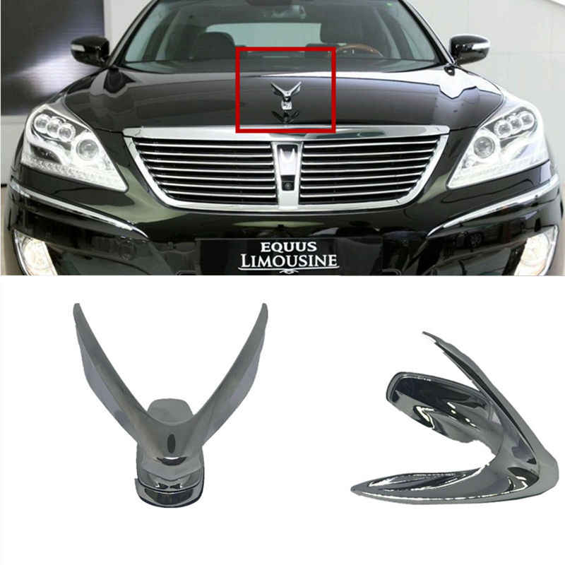 Hyundai Equus Wing Ornament Hood Trunk Emblem Full Kit Set OEM Genuine Part 2010 2011 2012 2013 2014 2015