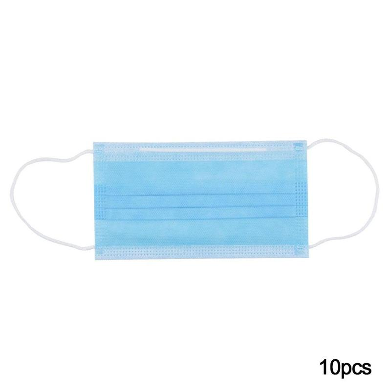 10pcs-pack-Non-Woven-Disposable-Face-Respirator-Mask-3-Layer-Earloop-Activated-Carbon-Anti-Dust-proof