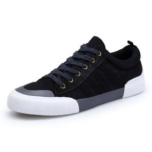 Image 4 - SHANTA 2020 Men Canvas Shoes Fashion Solid Color Men Vulcanized Shoes Lace up White Casual Shoes Men Sneakers chaussure homme