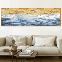 Yuke Art Modern Abstract Canvas Painting Sea Wave Oil on Poster Wall Picture for Living Room Home Decor