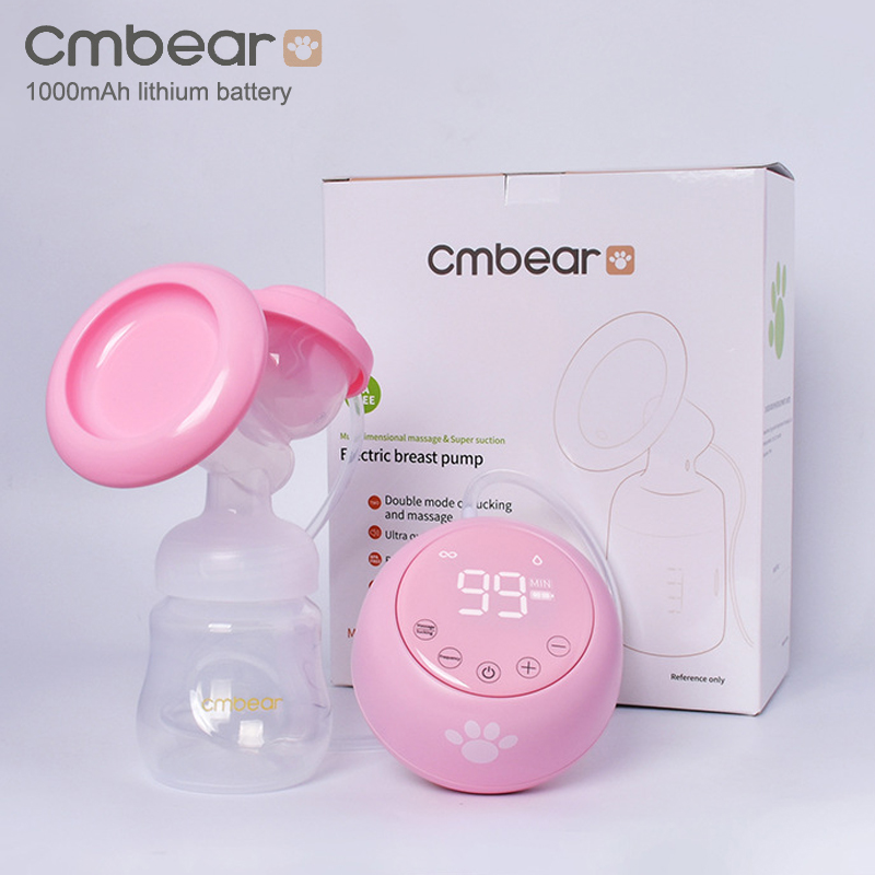 New 2020 Cmbear Advanced Electric Breast Pump BPA Free Powerful Suction Baby Feeding USB Breast Pumps Multiple Mode Adjustment