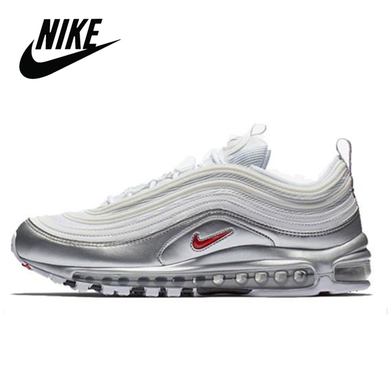 Original Authentic <font><b>Nike</b></font> <font><b>Air</b></font> <font><b>Max</b></font> 97 QS <font><b>Men's</b></font> Running <font><b>Shoes</b></font> Outdoor Sports <font><b>Shoes</b></font> Trend Breathable Unisex Women Comfortable image