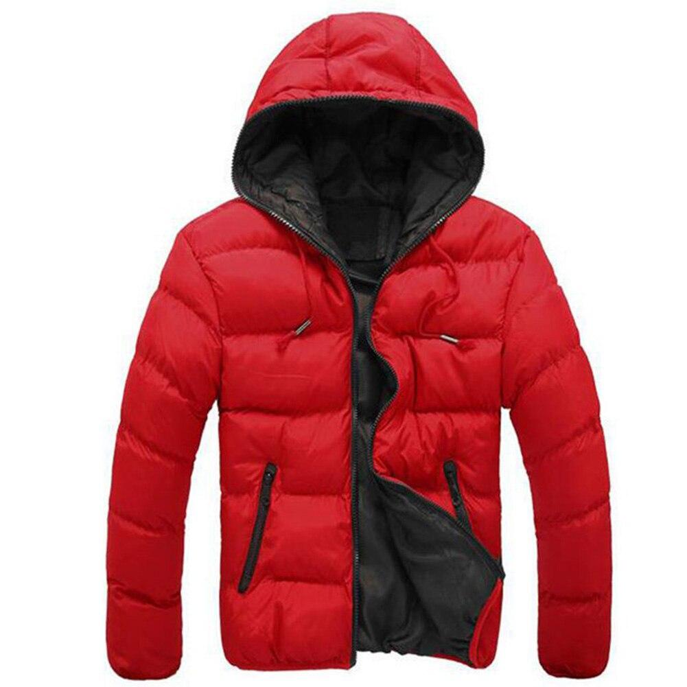 Зимняя мужская куртка 2019, модная мужская парка со стоячим капюшоном и воротником, мужские плотные куртки и пальто, мужские зимние парки M 4XL - 4