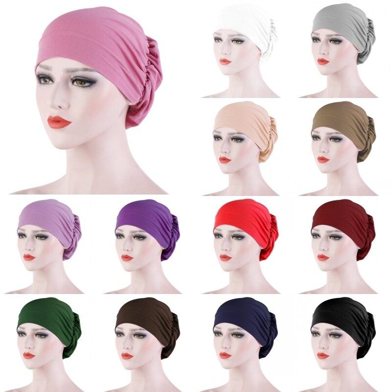 Женская шапка-тюрбан, головной убор, шарф, обмотка, выпадение волос, раковая Кепка, искусственная хиджаб, головной платок