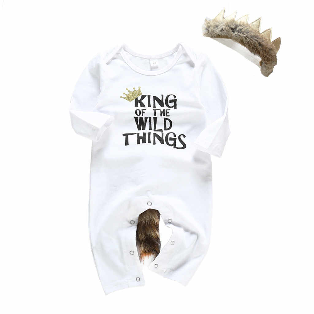 Newborn clothing Infant Baby Boys Girls Long Sleeve Letter Print Romper kids baby Cotton Jumpsuit Outfits kids Baby Clothes