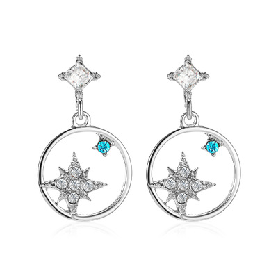 Earring-silver color