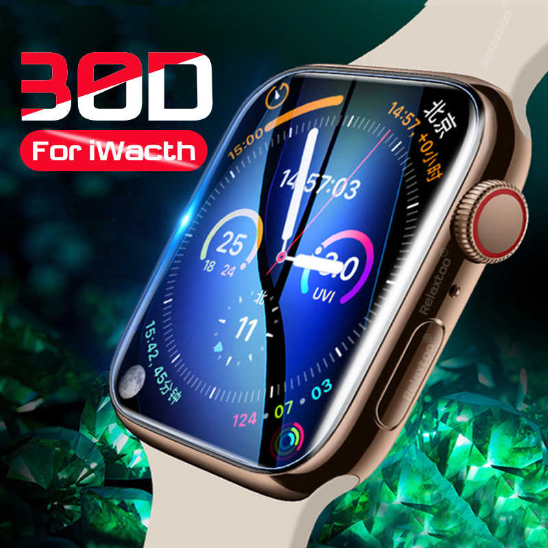 30D Full Cover Tempered Glass On The For iwatch 1 2 3 4 Screen Protective Glass For apple watch 38 40 42 44 mm Protector Film