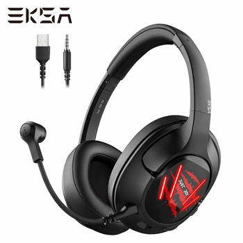 EKSA Gaming Headset Gamer E3 7.1 Surround Wired Game Headphones USB/3.5mm Earphones Noise-Canceling Mic for PS4/Xbox/PC/Laptop