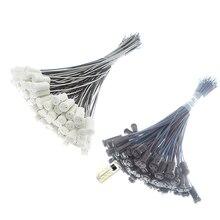 Socket Light-Bulb G4-Lamp-Holder Halogen 10-50pcs Crystal 20cm 30cm White 12V Black 220V