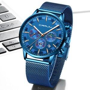 Image 5 - นาฬิกาผู้ชายRelogio Masculino CRRJUสุดหรูยี่ห้อธุรกิจเหล็กนาฬิกาควอตซ์Casualนาฬิกาข้อมือชายกันน้ำChronograph